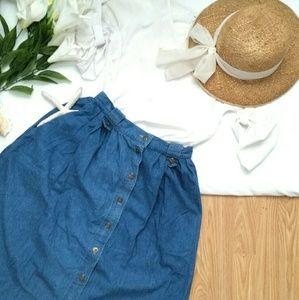 *Vintage Blue Jean Baby Skirt*
